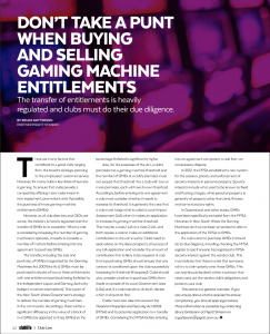 click here to see the article as it appeared in Club Life August 2016