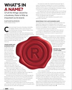 click here to see the article as it appeared in Club Life July 2015