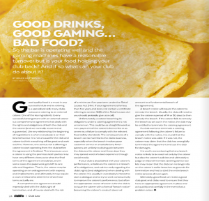 click here to see the article as it appeared in Club Life July 2016