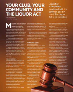 click here to see the article as it appeared in Club Life June 2015