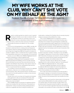 click here to see the article as it appeared in Club Life May 2016